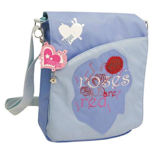 Three Rocking Roses Sling Bag in Blue