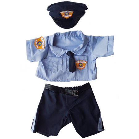 Police Uniform Outfit Teddy Bear Clothes Fits Most 14