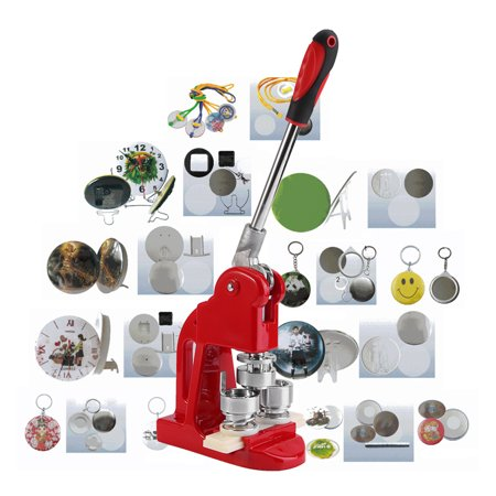 Button Making Machine,25mm Badge Punch Press Maker Machine With 1000 Circle  Button Parts