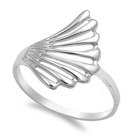 Wave Filigree Simulated Abalone Fashion Style Ring New .925 Sterling Silver Band Size