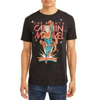 Captain Marvel Avengers Men's Retrainbow Graphic T-shirt