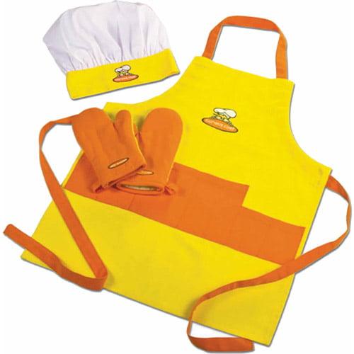 Curious Chef Apron Set, Yellow/Orange