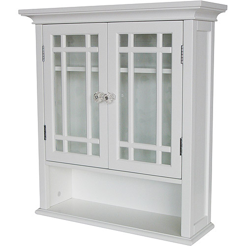 Heritage Wall Cabinet with Doors and Shelf, White