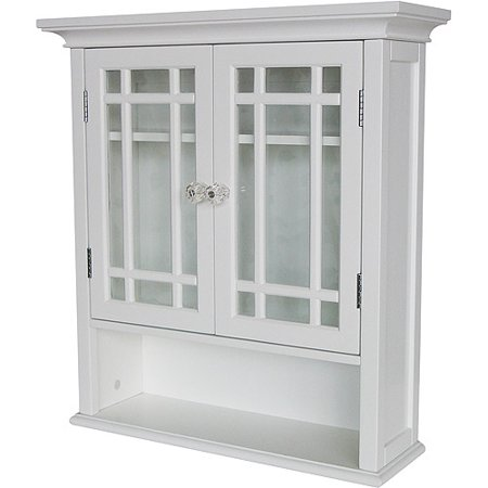 heritage wall cabinet with doors and shelf white. Black Bedroom Furniture Sets. Home Design Ideas