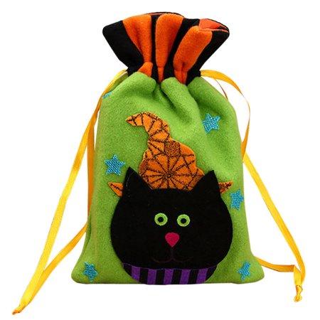 Halloween Candy Bag Satchel Rucksack Bundle Pocket Drawstring Storage - Hollowen Store