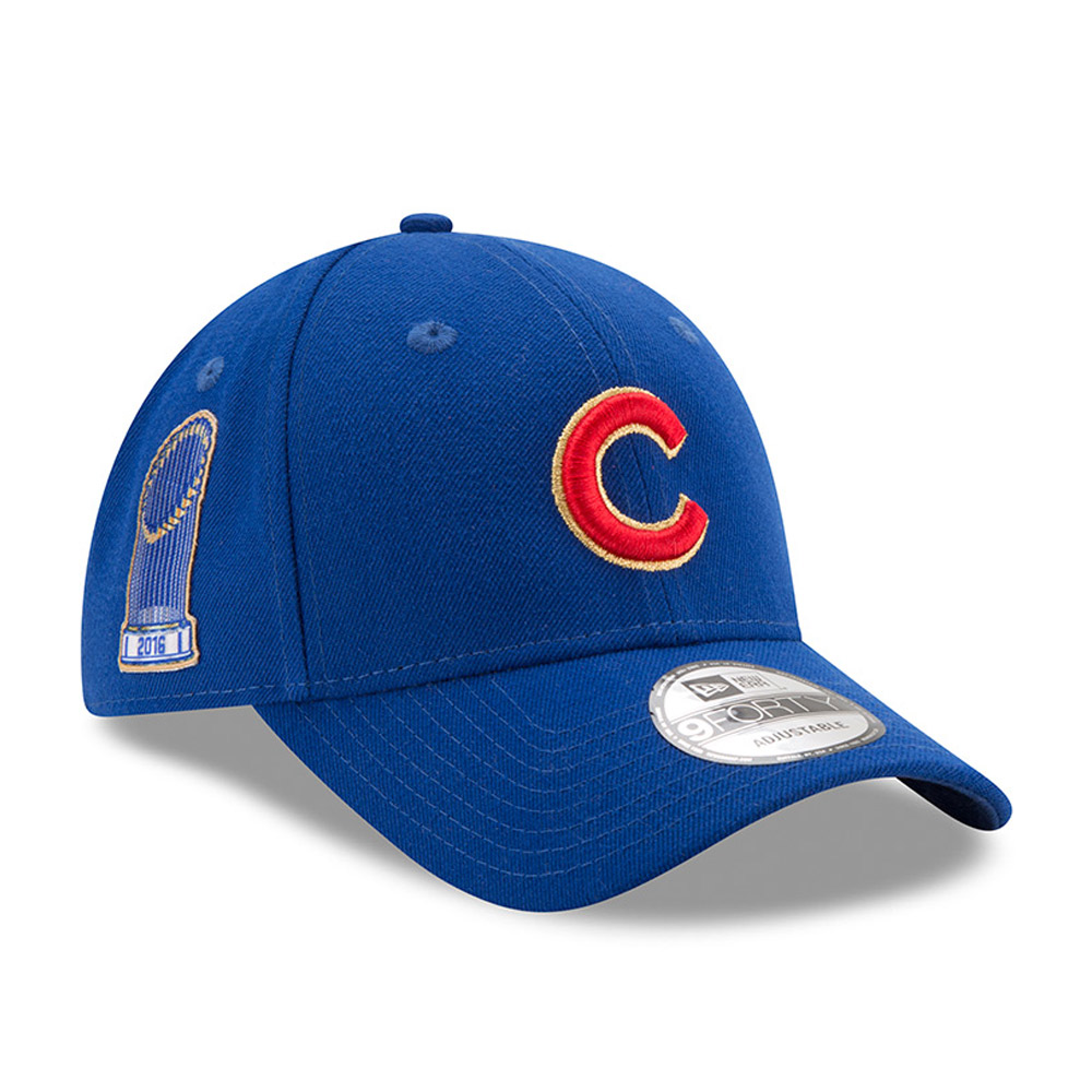 Chicago Cubs New Era 2017 Gold Program World Series Champions Commemorative 9FORTY Adjustable Hat - Royal - OSFA