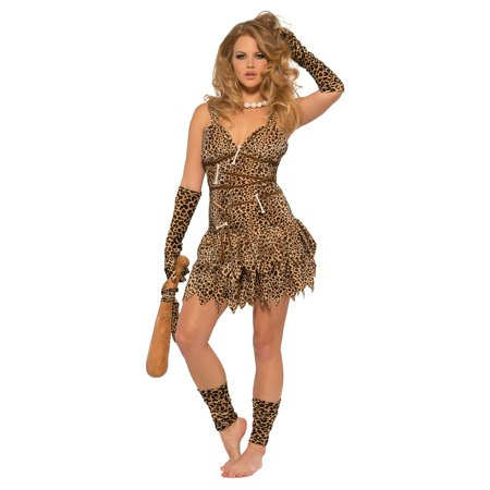 Cave Woman Adult Costume - Medium - Cave Women Costume