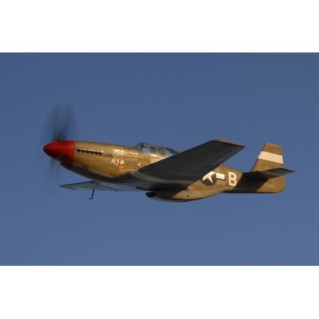 North American P-51C Mustang flying over Chino Hills California Poster - Chino Hills Spectrum Halloween