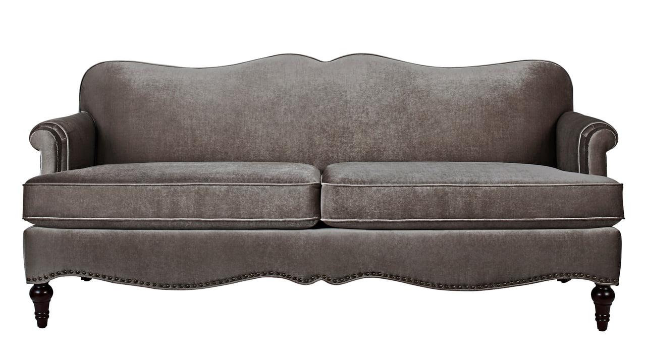 Legacy Camelback Sofa Nailhead Accents Grey Walmart Com