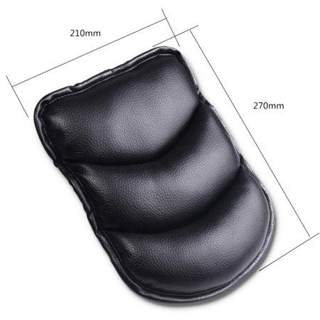 Auto Central Armrest Box Cover Cushion Car Handrails Pad Upholstery Decoration Universal Application Color:Black - image 5 de 8