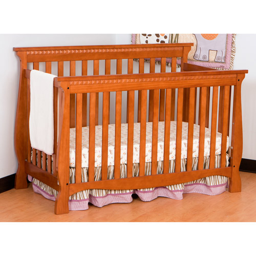 Storkcraft Venetian Fixed Side Convertible Crib in Oak