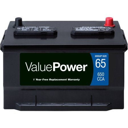 ValuePower Lead Acid Automotive Battery, Group 65
