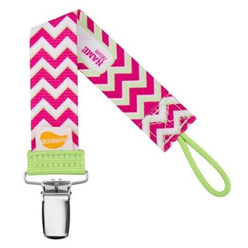 Personalized Pacifiers Pink Chevron Pattern Universal Pacifier Clip