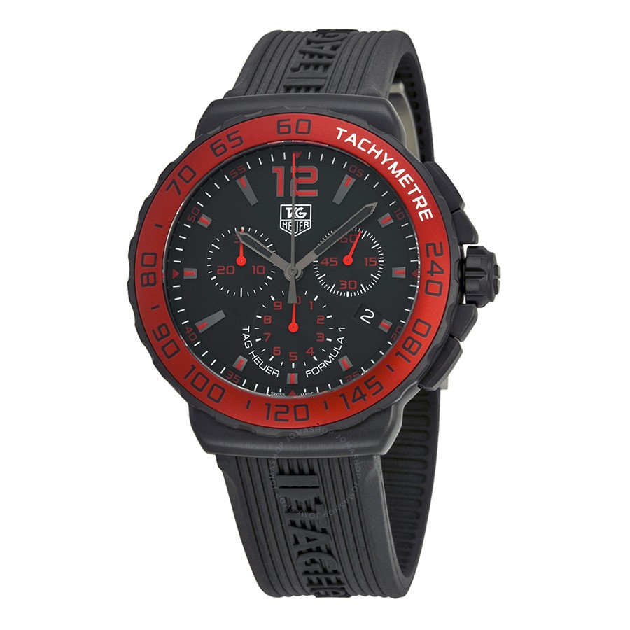 Tag Heuer Formula One Chronograph Black Dial Mens Watch C...