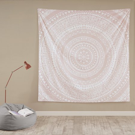 Mainstays Peach Medallion Oversized Cotton Print Tapestry