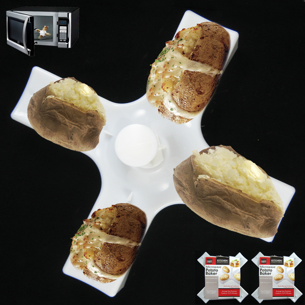 Microwave Fast Potato Baker Make 4 Potatoes Cooker Kitchen Accessory Novelty New