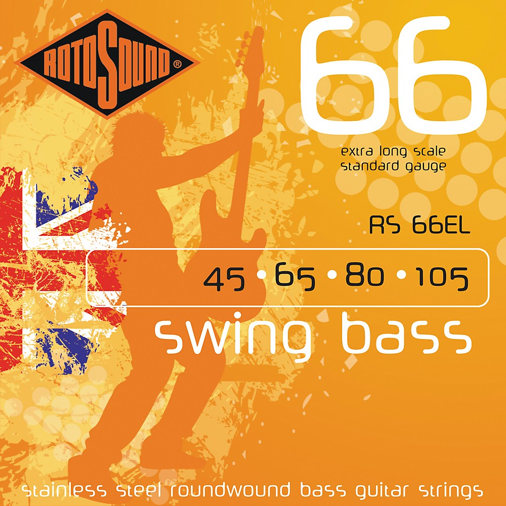 Rotosound RS66EL Extra Long Scale Bass Strings by Rotosound