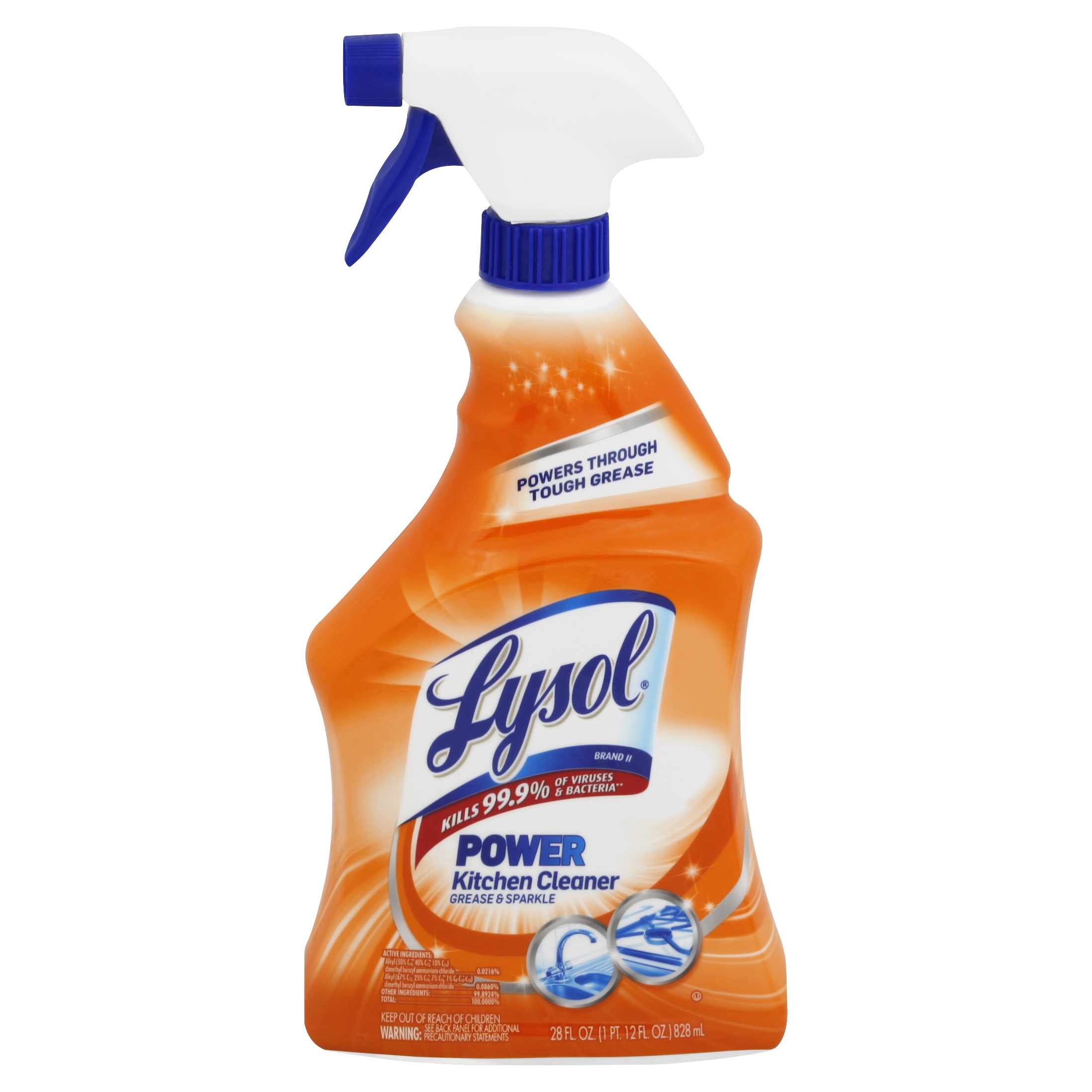 Kitchen Cleaner: Lysol Power Kitchen Cleaner Spray, 28 Ounce