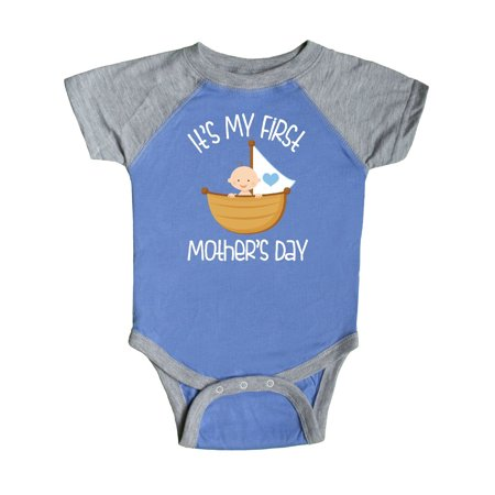 ccea5a107 Inktastic - 1st Mothers Day Outfit Boys Infant Creeper - Walmart.com