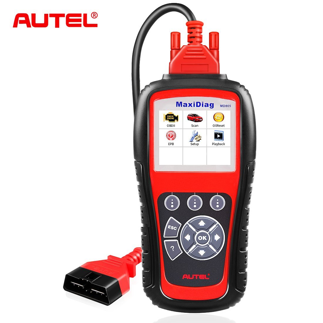 Autel MaxiDiag MD805 All System OBD2 Scanner for Engine,Transmission,ABS,Airbag,EPB,Steering Wheel,SAS,BMS,Oil Service Reset,TPMS OBDII Diagnostic Tool Code Reader