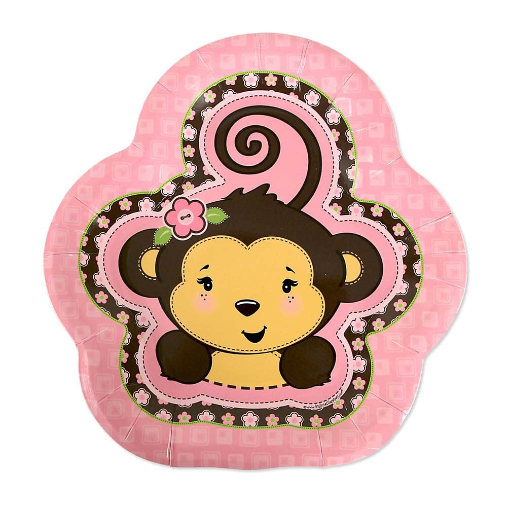Monkey Girl - Party Dessert Plates (8 count)