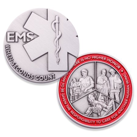 Emergency Medical Services Challenge Coin EMS / EMT Coin / Firefighter Coin