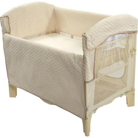 Arm 39 s reach ideal co sleeper bedside bassinet natural for Arm s reach co sleeper