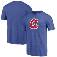 Atlanta Braves Fanatics Branded Cooperstown Collection Huntington Tri-Blend T-Shirt - Royal