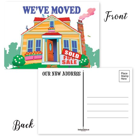 New Home Address Postcards - 50 4 x 6 inch Postcards - Change of Address
