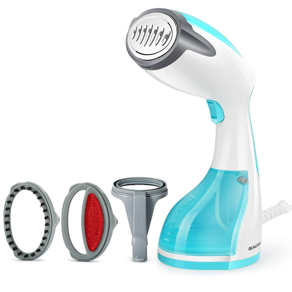 Beautural Garment Steamer Handheld Iron Clothes Steamer Portable Home and Travel Fabric Small Steamer 35s Heat Up with 260ml Removable Water Tank Vertically Horizontally Steam