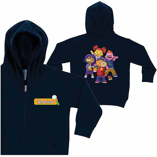 Personalized Sid the Science Kid Magnify Little Boys' Navy Zip-Up Hoodie