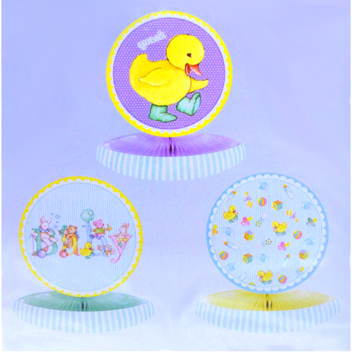 Duckling Baby Shower Mini Honeycomb Centerpieces (3ct)