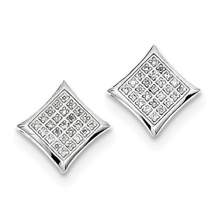 antique style shaped earrings with diamond shape clips square