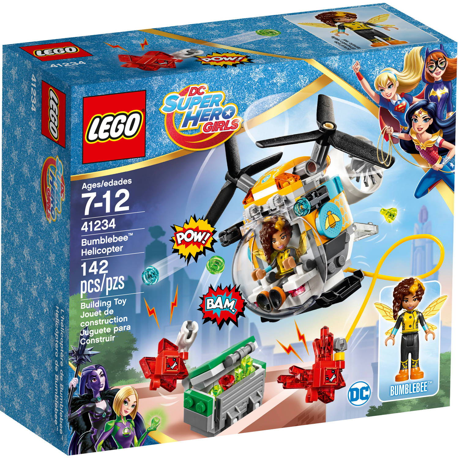 Lego DC Super Hero Girls Bumblebee Helicopter 41234 by LEGO Systems Inc
