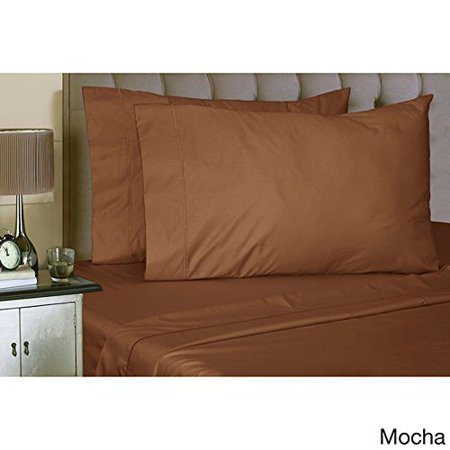 Full Size   4Pc Sheet Set   Poly Cotton Blend  300Tc  Hospitality Grade  Comfortable And Durability   By Pacific Linens  Chocolate