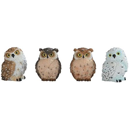 George S. Chen Imports Owl Figurines (Set of 4), (Owl Postage)