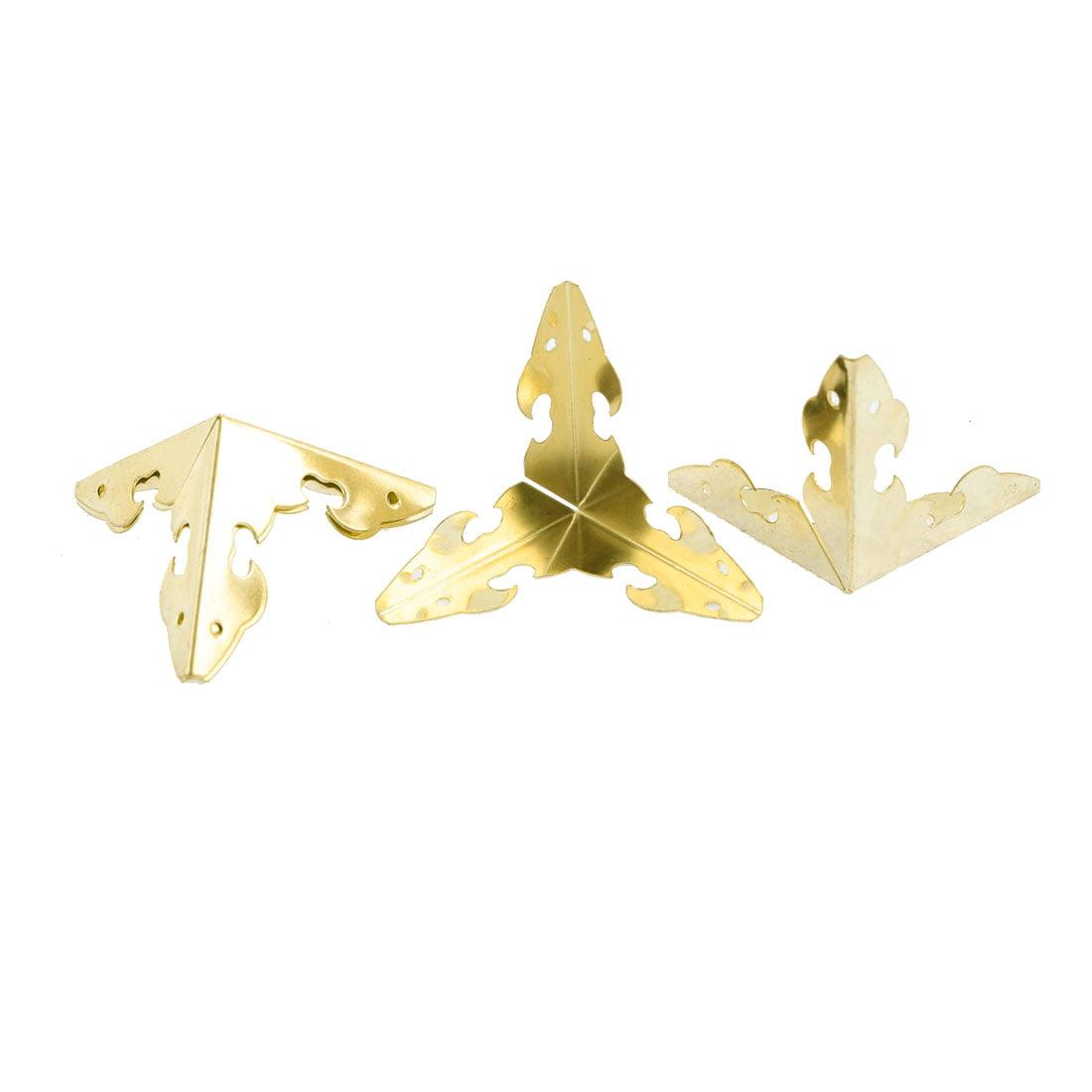 Unique Bargains Jewelry Box Case Luxurious Corner Bracket Protectors Edge Guard 4 Pcs