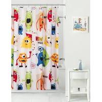 Mainstays Kids Monster Mix Coordinating Fabric Shower Curtain