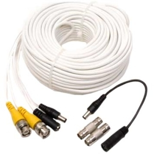 Q-See 100 ft. Video and Power BNC Male Cable with 2 Female Connector