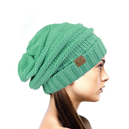 NYfashion101 Exclusive Oversized Baggy Slouchy Thick Winter Beanie Hat -  Mint - Walmart.com dbb50118bde