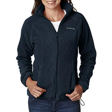 Columbia Ladies' Benton Springs™ Full-Zip Fleece - COLUMBIA NAVY - 1XL (Womens Columbia Three Lakes Hooded Long Fleece Jacket)