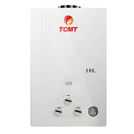 TCMT 4.8 GPM 18L Tankless Water Heater LPG Liquid Propane Gas Instant Hot Boiler with Digital