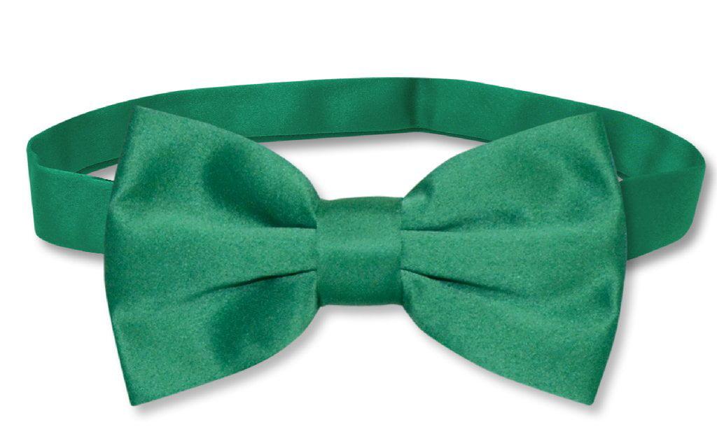 aa0d6811bd6a Vesuvio Napoli - Men's Dress Vest & BowTie Solid EMERALD GREEN Color Bow  Tie Set for Suit or Tux - Walmart.com