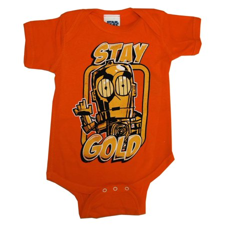 C3PO Stay Gold Star Wars Movie Baby Creeper Romper Snapsuit](Star Wars Babys)