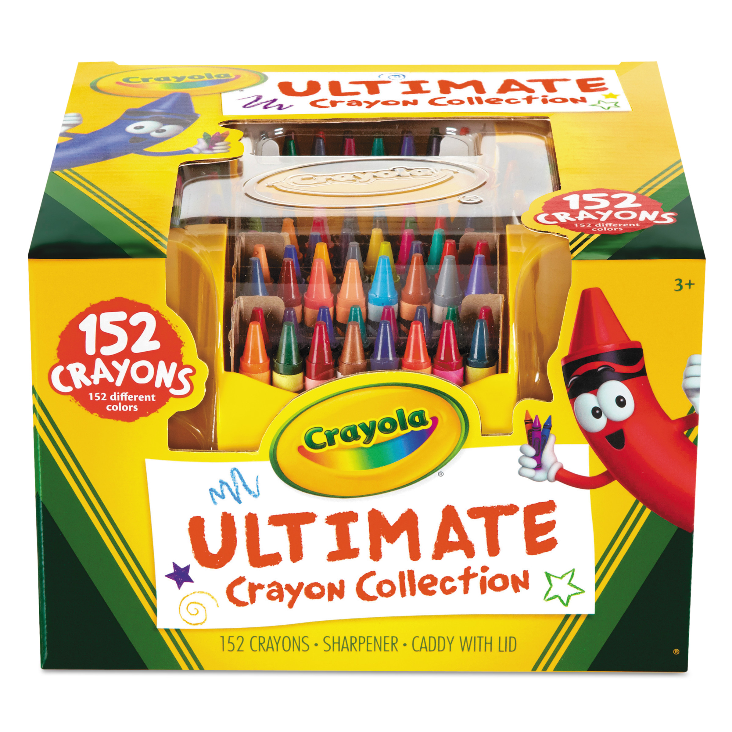 Crayola Ultimate Crayon Case, Sharpener Caddy, 152 Colors