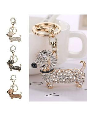 Product Image Moderna Fashion Dachshund Dog Alloy Rhinestone Key Chain Bag  Car Pendant Decor Keyring 6cd07c5948