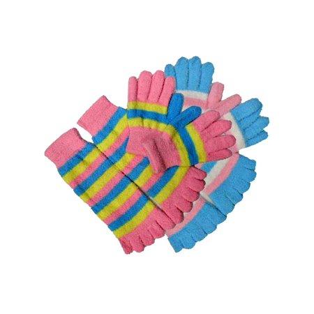 Hosiery Gloves (Toe Socks & Gloves Fuzzy 2-Pack Set)