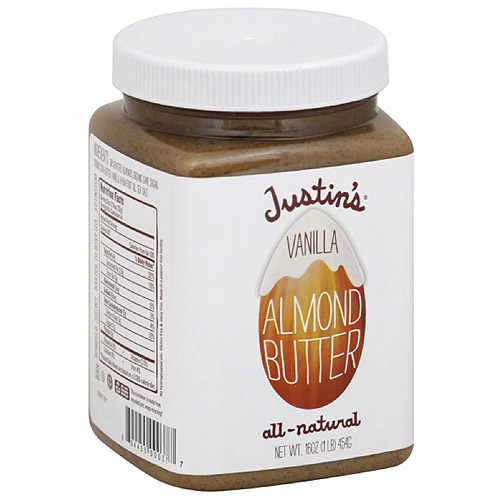 Justin's Vanilla Almond Butter, 16 oz, (Pack of 6)