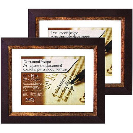 fairmont espresso 11 x 14 documentpicture frame