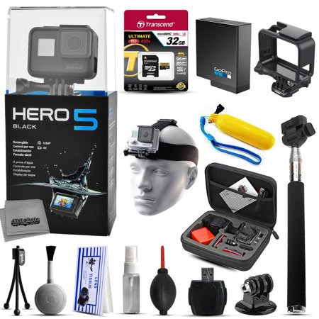 gopro hero5 black chdhx 501 with 32gb ultra memory premium case selfie st. Black Bedroom Furniture Sets. Home Design Ideas